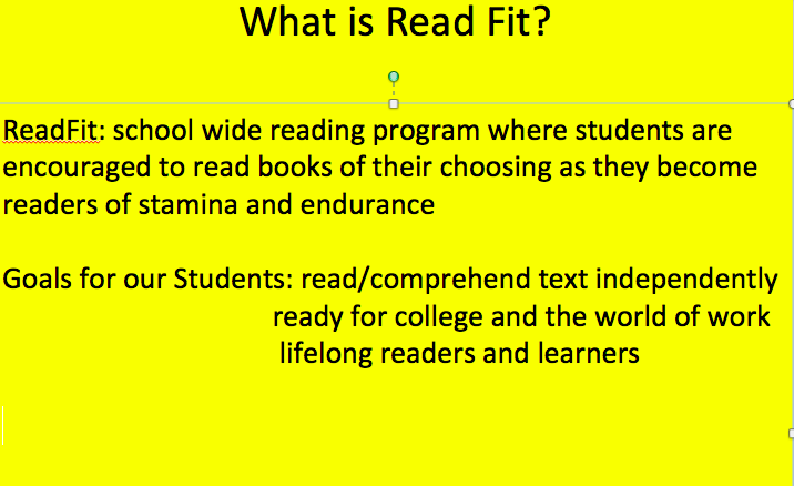 Read Fit - Alisa Jackson 6th Grade Room 410